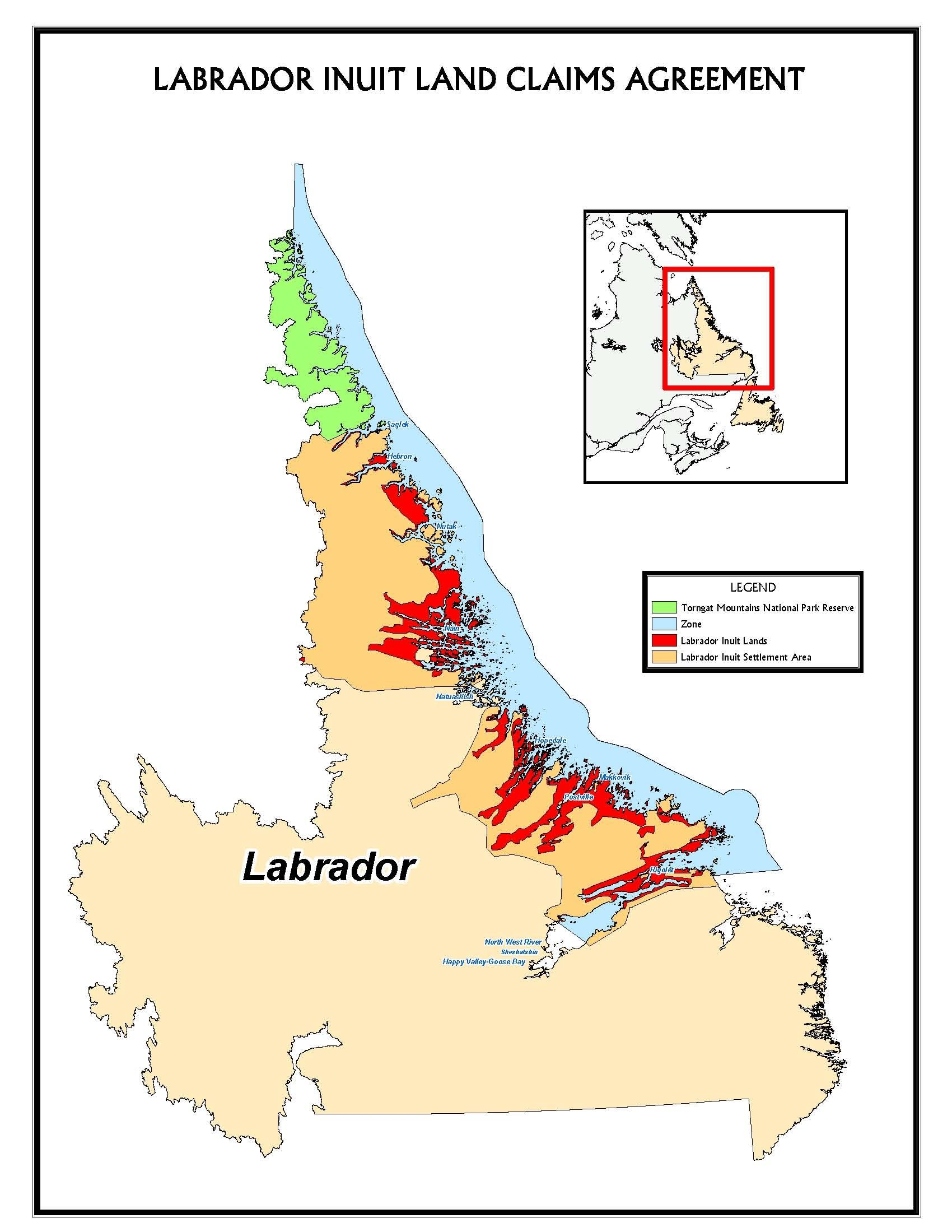 Map of Labrador Inuit Land Claims | Favorite places | Pinterest ...