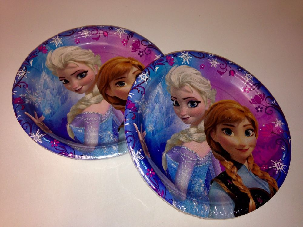 Disney Frozen Paper Plates NEW Birthday Party Supplies