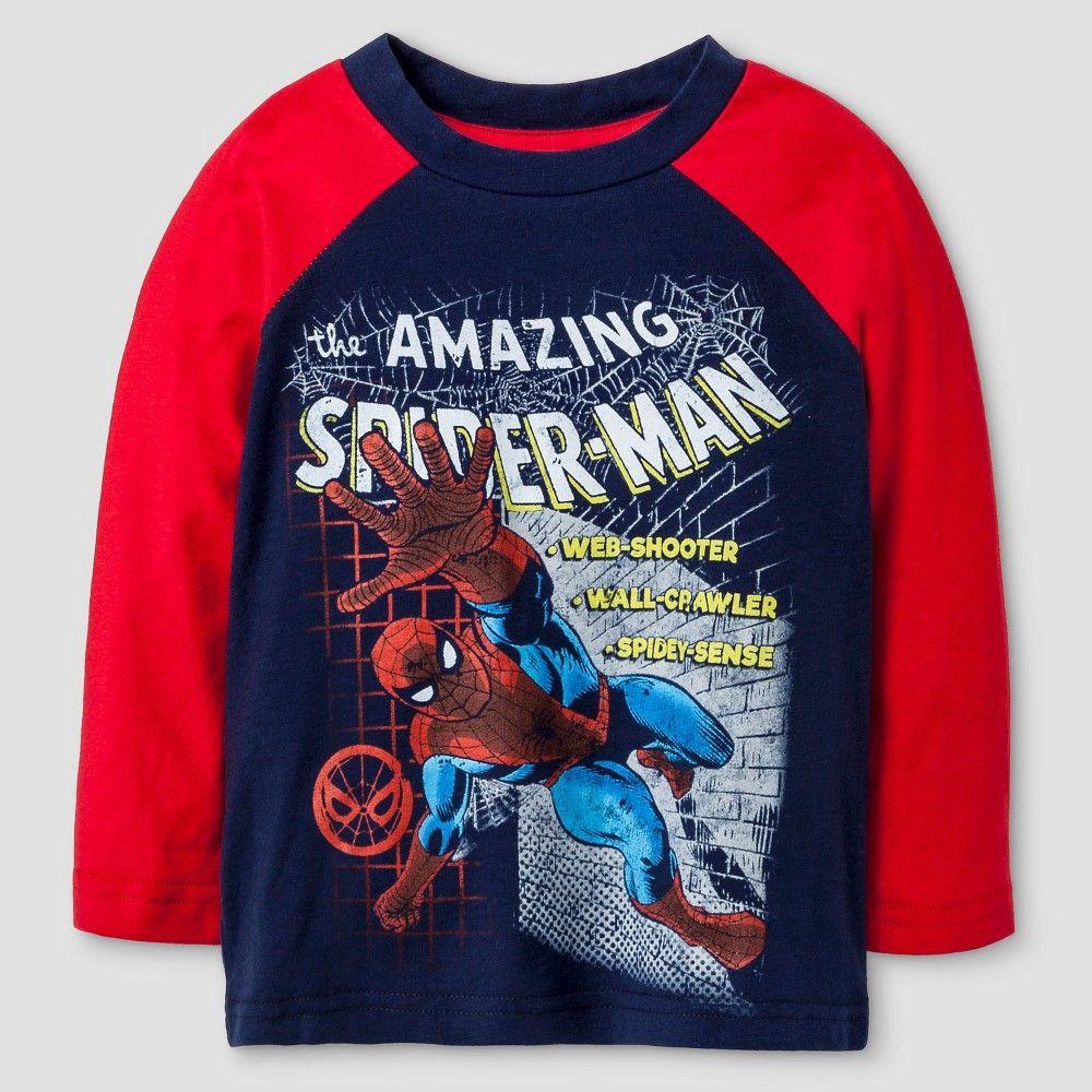 Marvel Spiderman Long Sleeve Boys T-Shirt With Hood