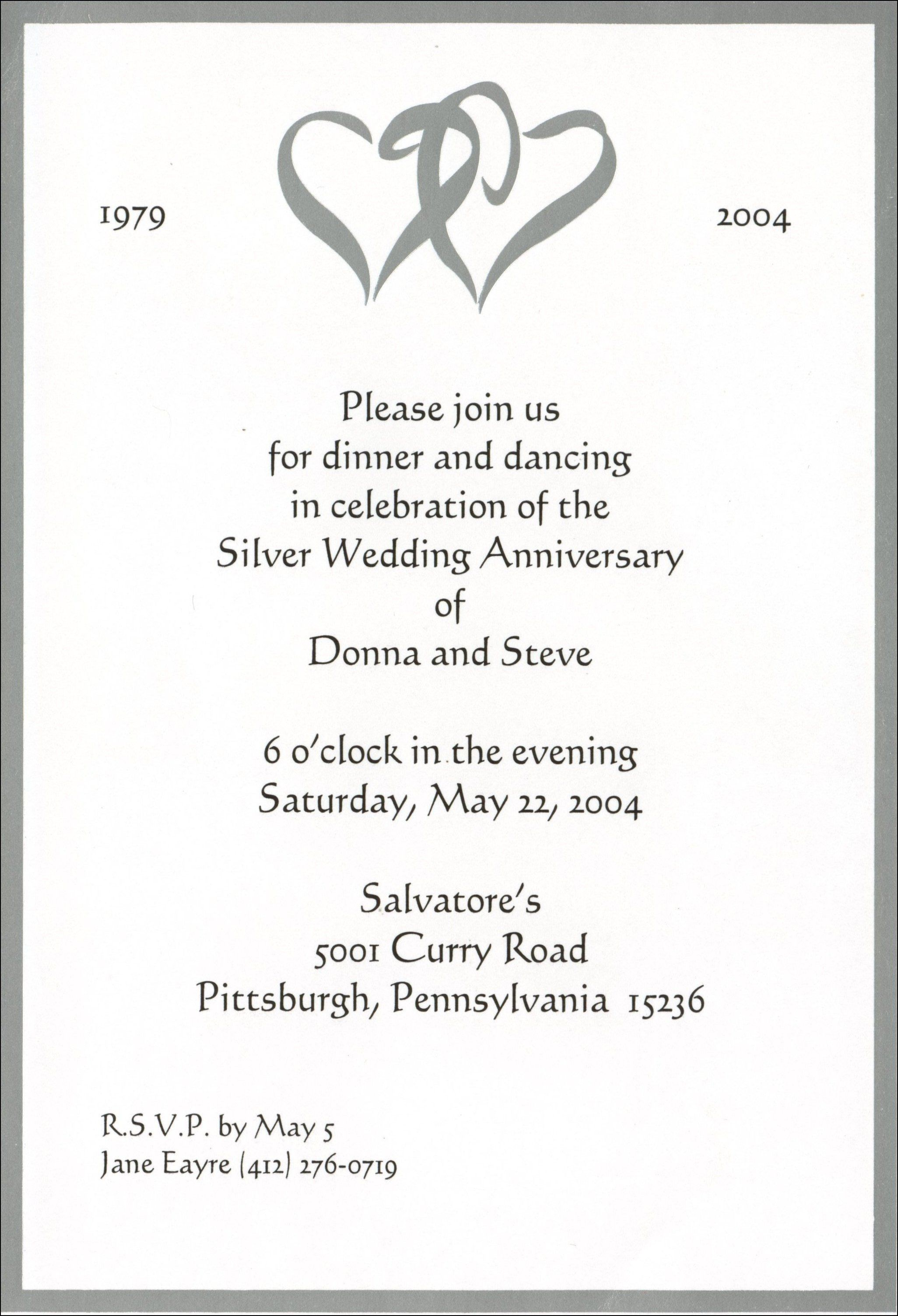 4th Wedding Anniversary Invitation Wording  Wedding anniversary