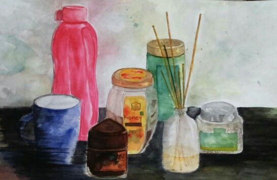 Domesti City I Still Life Composition In Water Colors
