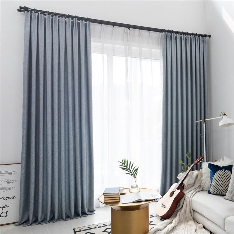 Elegant Max Blackout Curtain Solid Color Curtain Bedroom Office
