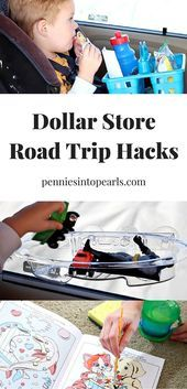 New road trip hacks all using dollar store items The water color paint book loo New road trip hacks all using dollar store items The water color paint book loo