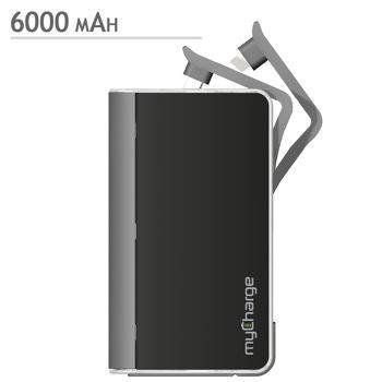 Mycharge Hub 6000 Mah Power Bank Rfam0604 Blacksilver Read More Reviews Of The Product By Visiting The Link Portable Power Bank Powerbank Cool Things To Buy