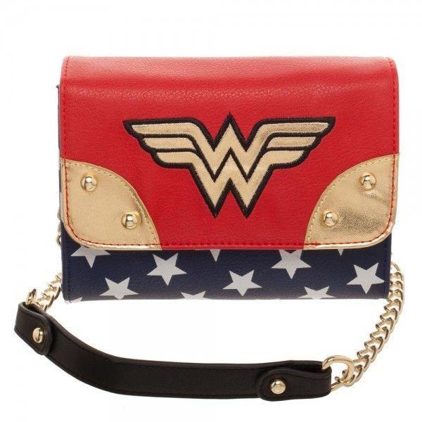 Wonder Woman Sidekick Purse Wallet Clutch Bag Shoulder Strap DC Justice League #Bioworld #Sidekick