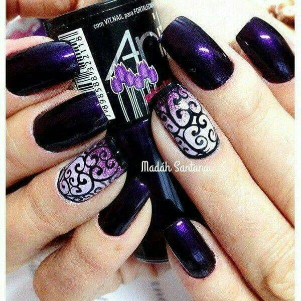 Dark purple nails - gorgeous for winter - Dark Purple Nails - Gorgeous For Winter Nails Pinterest Dark
