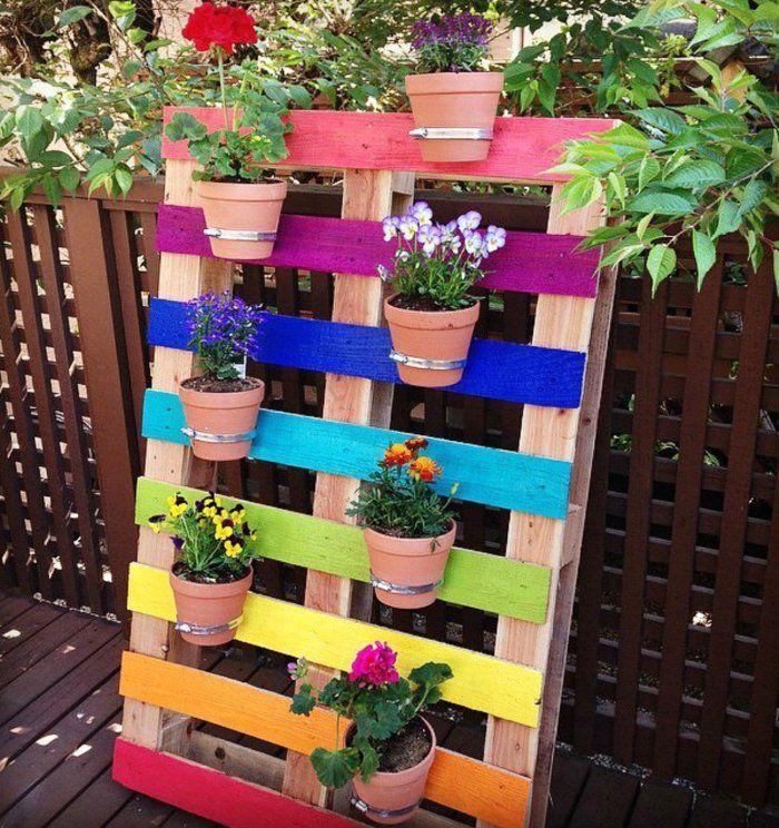 paletten garten #garden #garten 90 Deko Ideen zum Selbermachen fr sommerliche Stimmung im Garten #palettendeko gartenideen blumentpfe paletten garten pflanzen