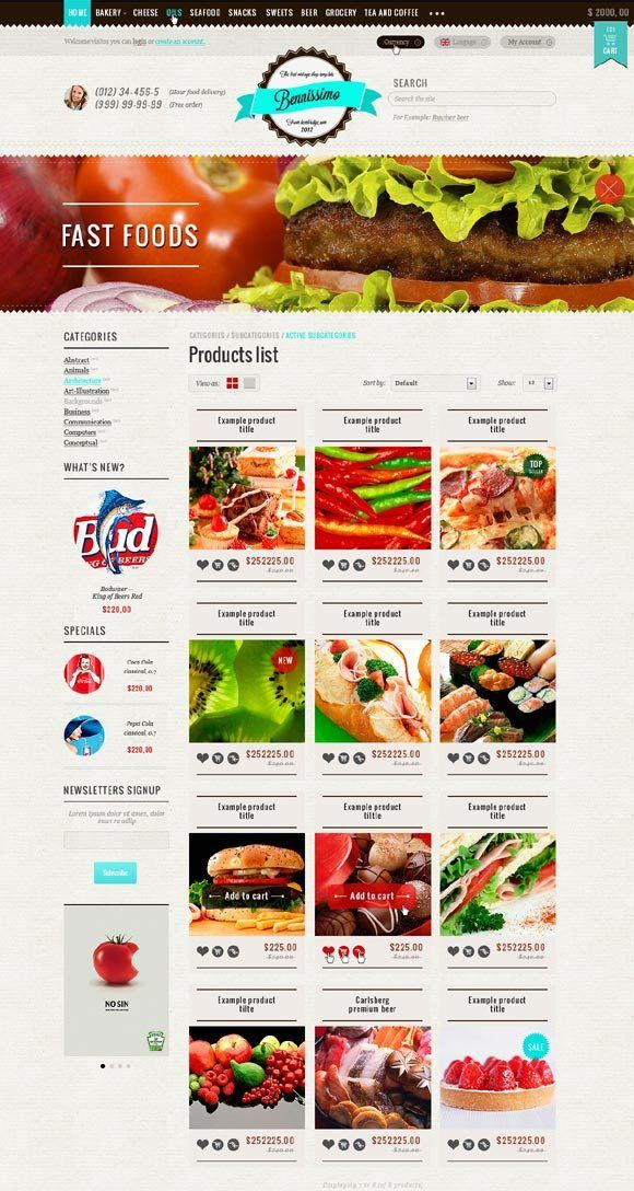 Benissimo WordPress Theme by SureshBabu PC, via Behance