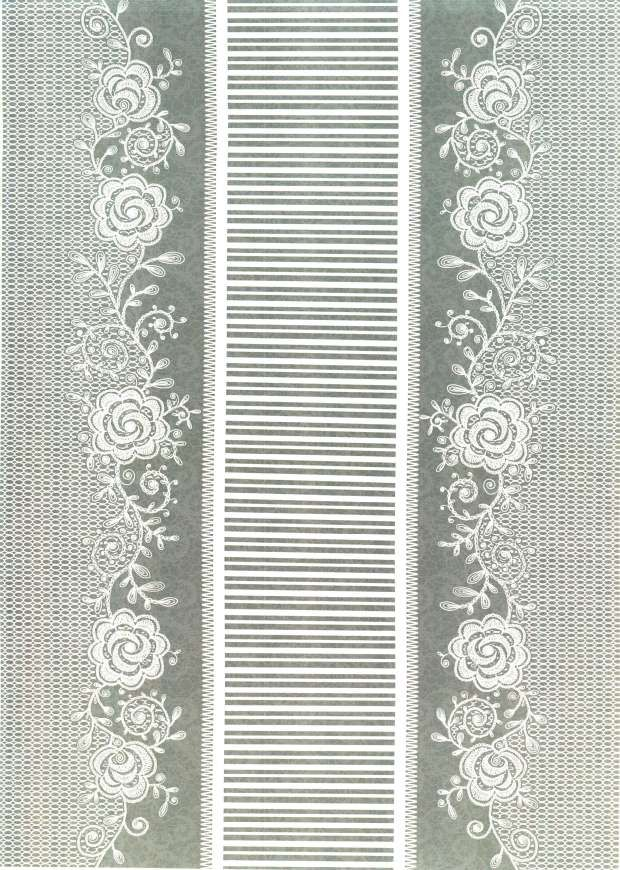 Kanban Crafts - Lovely in Lace - printed background paper #14 - Loose Leaf Paper Print