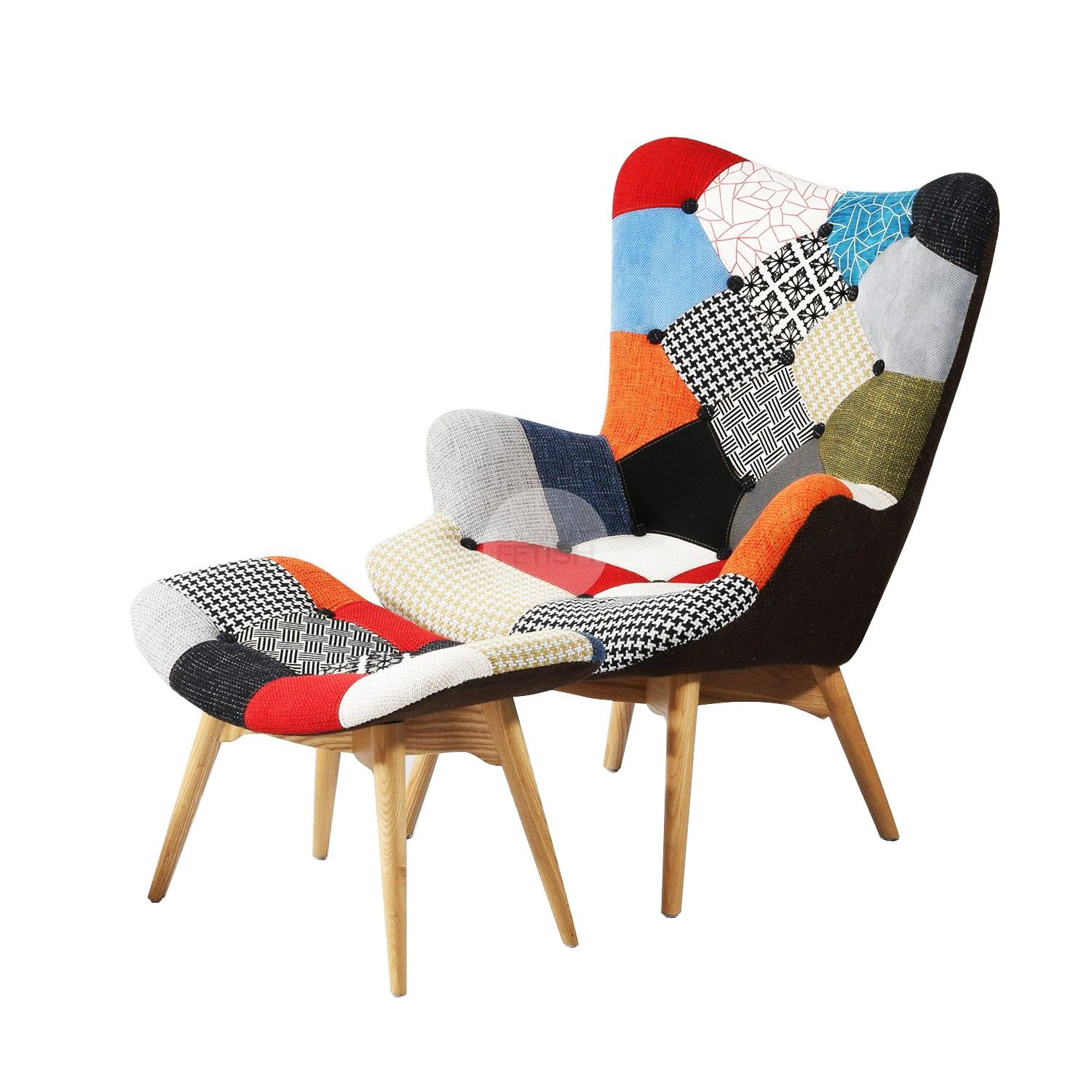 Grant Featherston Patchwork Chair & Ottoman