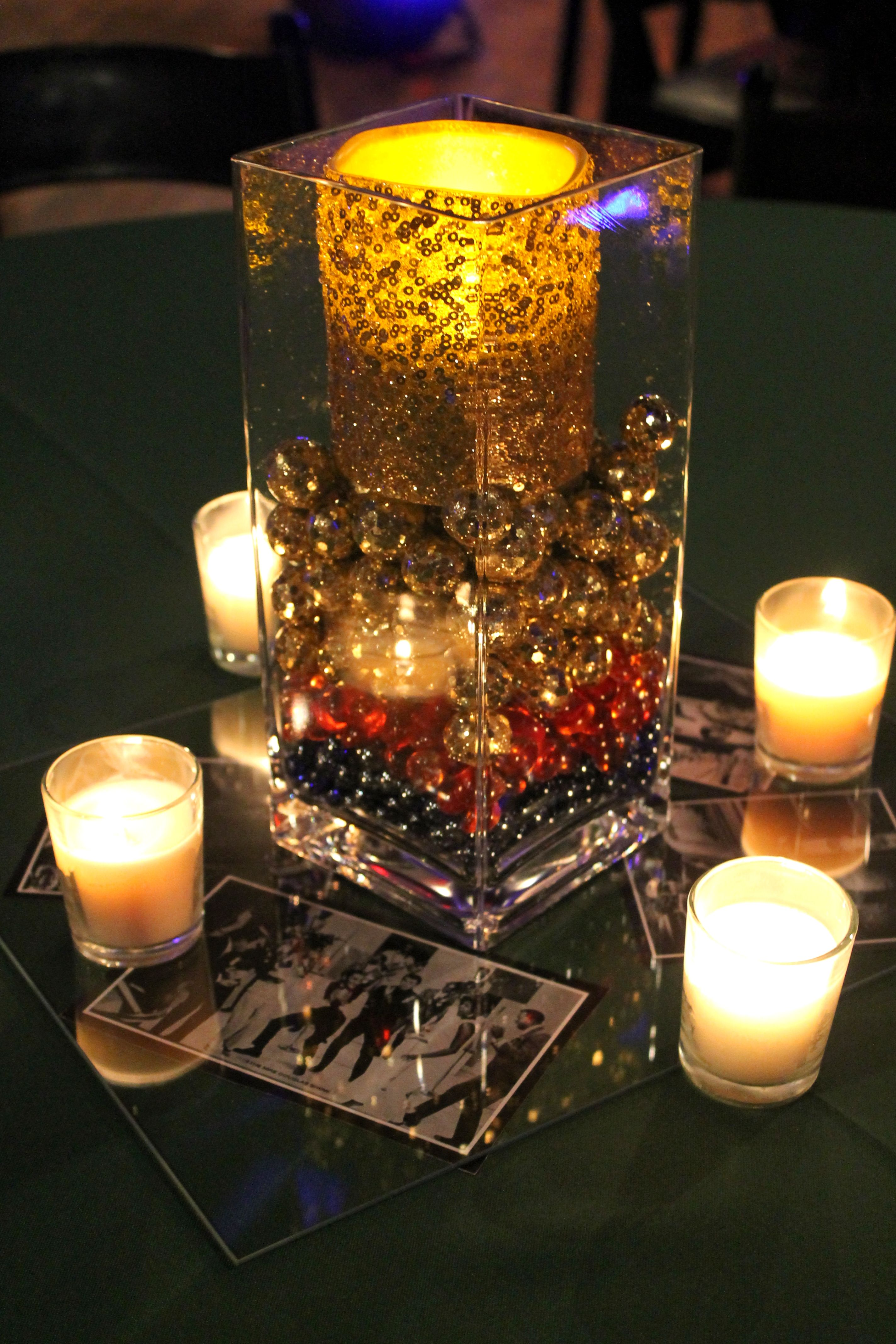 Motown catering centerpiece motown party pinterest for Record decoration ideas