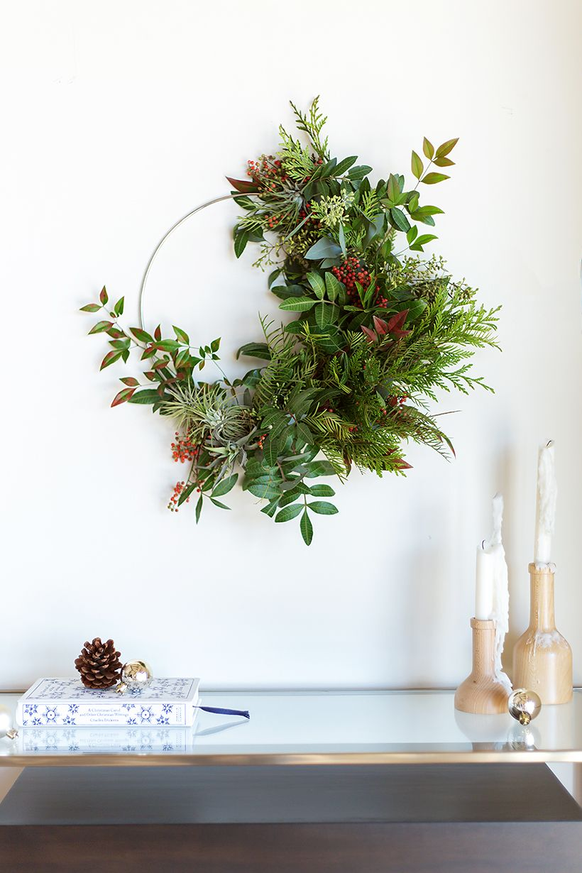 Decoration Murale Vegetale How To Make A Gorgeous Holiday Wreath Flowers Christmas
