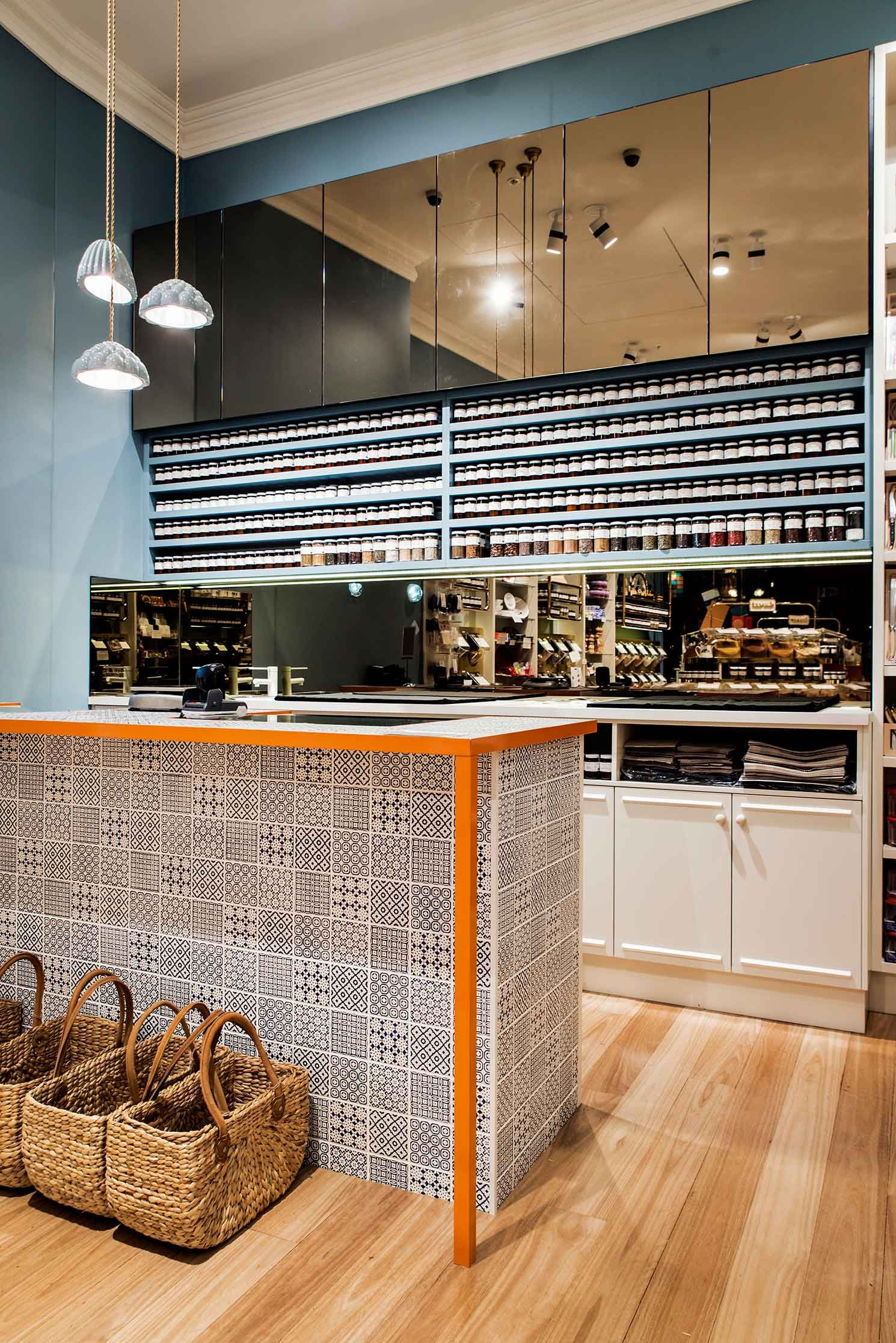 Gewurzhaus Merchants Stores by Doherty Design Studio. #counter #tiles