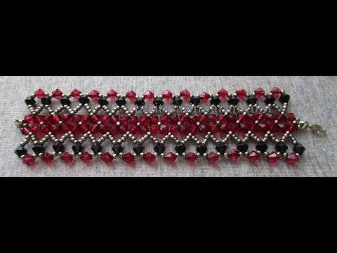 Kristal Boncuklu Kalın Bileklik Yapımı - YouTube