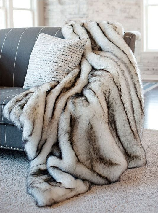 Norwegian Fox Faux Fur Throw Fabulous Furs Accessories