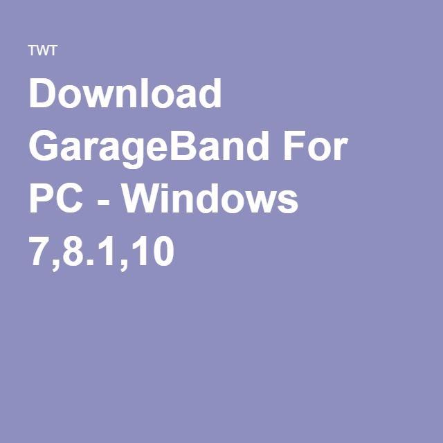 garageband para windows 8.1