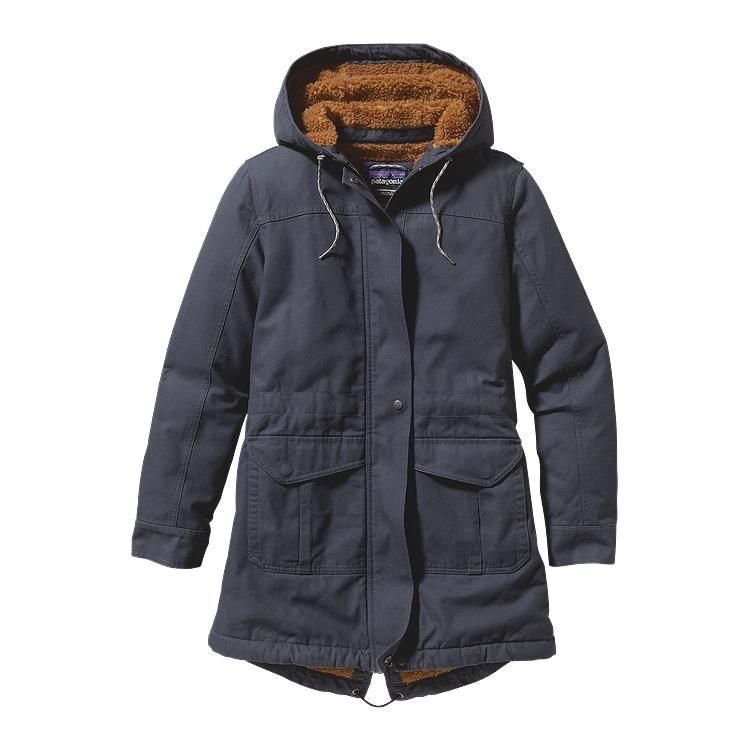 patagonia women 39 s insulated prairie dawn parka smolder blue smdb wind und wetter parka. Black Bedroom Furniture Sets. Home Design Ideas