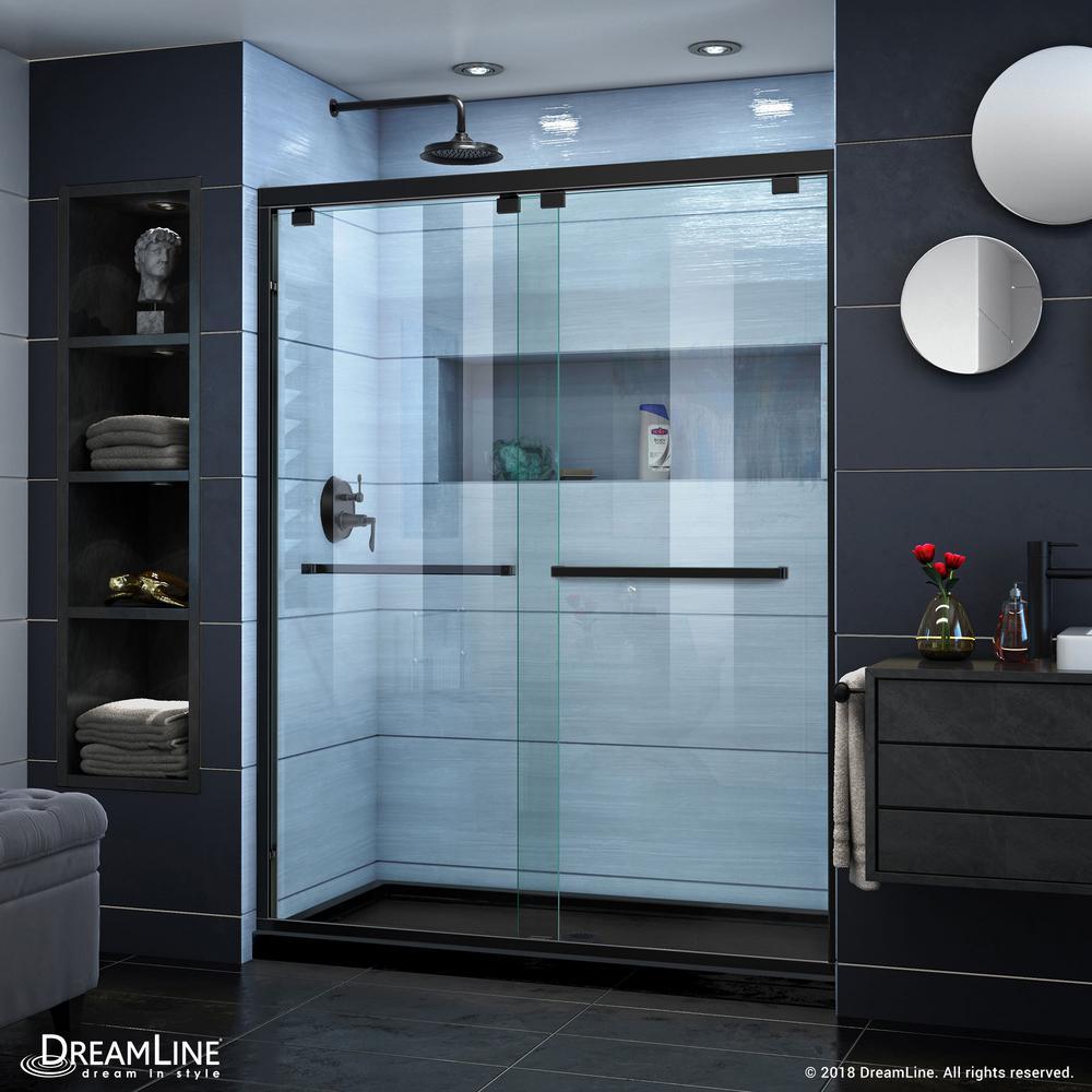 Delta Mandara 60 X 71 In Frameless Contemporary Sliding Shower