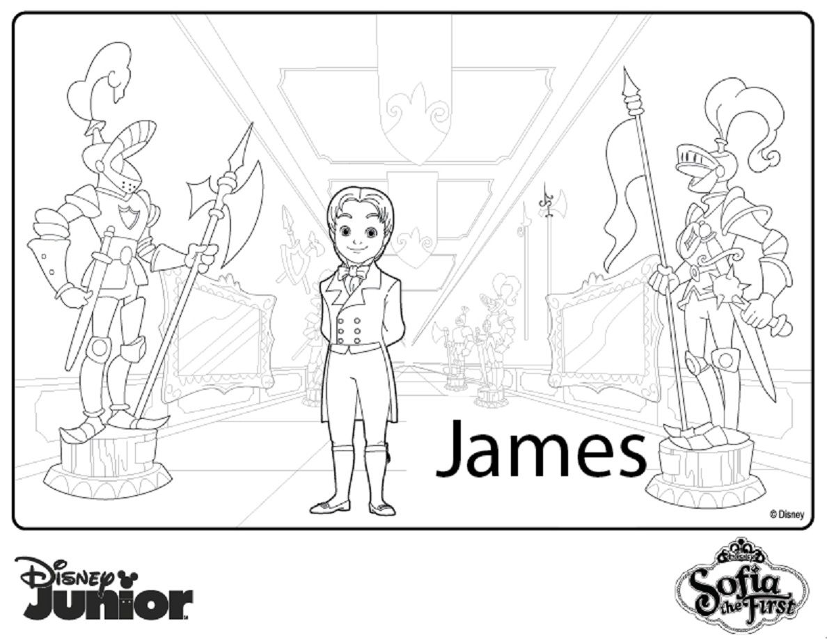 Princess sophia printable coloring pages - Disney Junior Series James From Sofia The First Printable Coloring