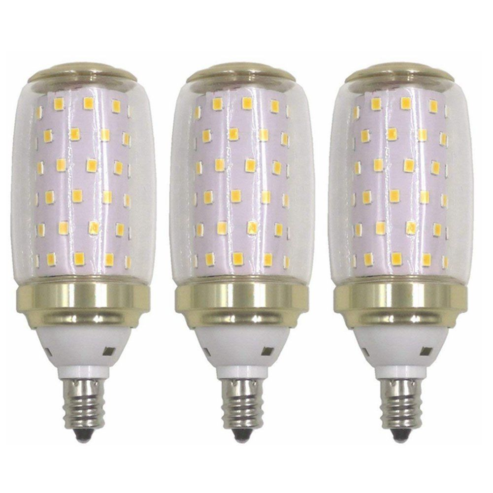 3 Pcs Pack E12 Led Candelabra Bulb 12w Led Candle Light Bulbs 100 Watt Light Bulbs Equivalent1200 Lumens Not Dimm Light Bulb Candle Candelabra Bulbs Watt Light