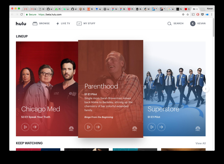 Hulu beta app Watch tv shows, Movies online, Live tv