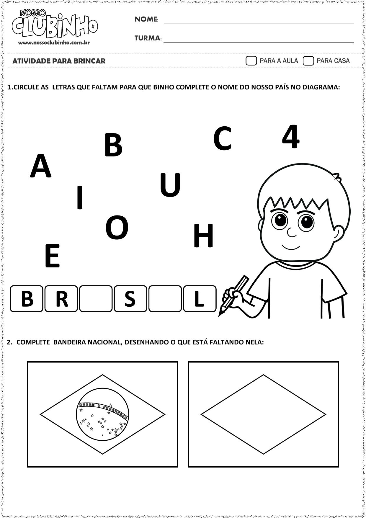 ATIVIDADE semana da pátria 2015 - EDUCAÇÃO INFANTIL - Pesquisa Google