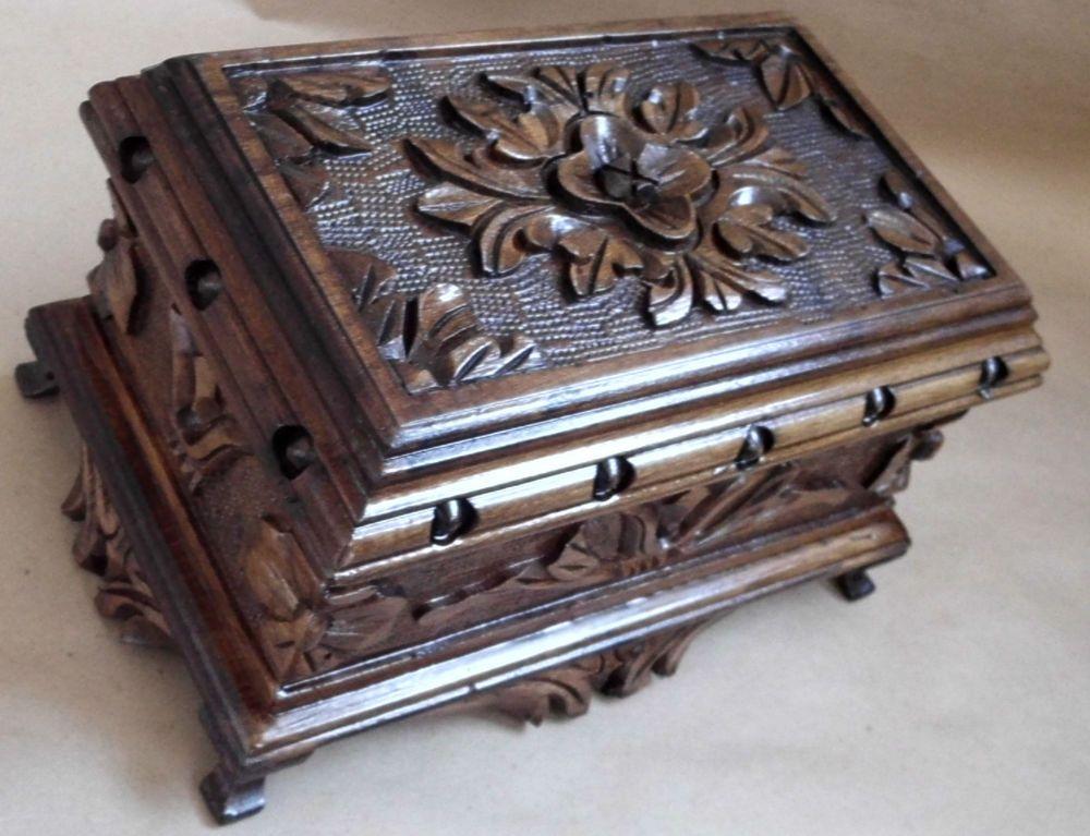 Turkish puzzle magic trick secret jewelry box casewalnut wood