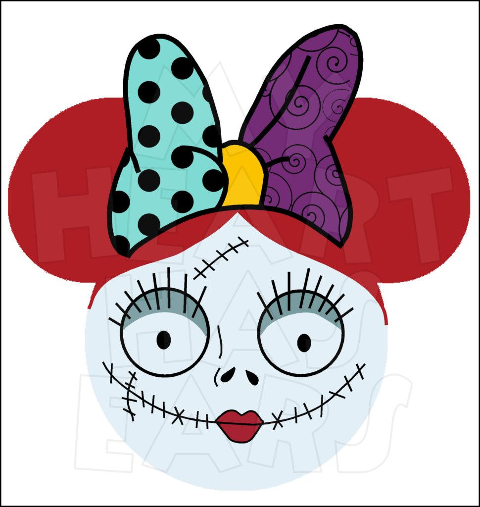 minnie mouse dressed as sally from nightmare before christmas rh pinterest co uk nightmare before christmas clip art free nightmare before christmas clipart free