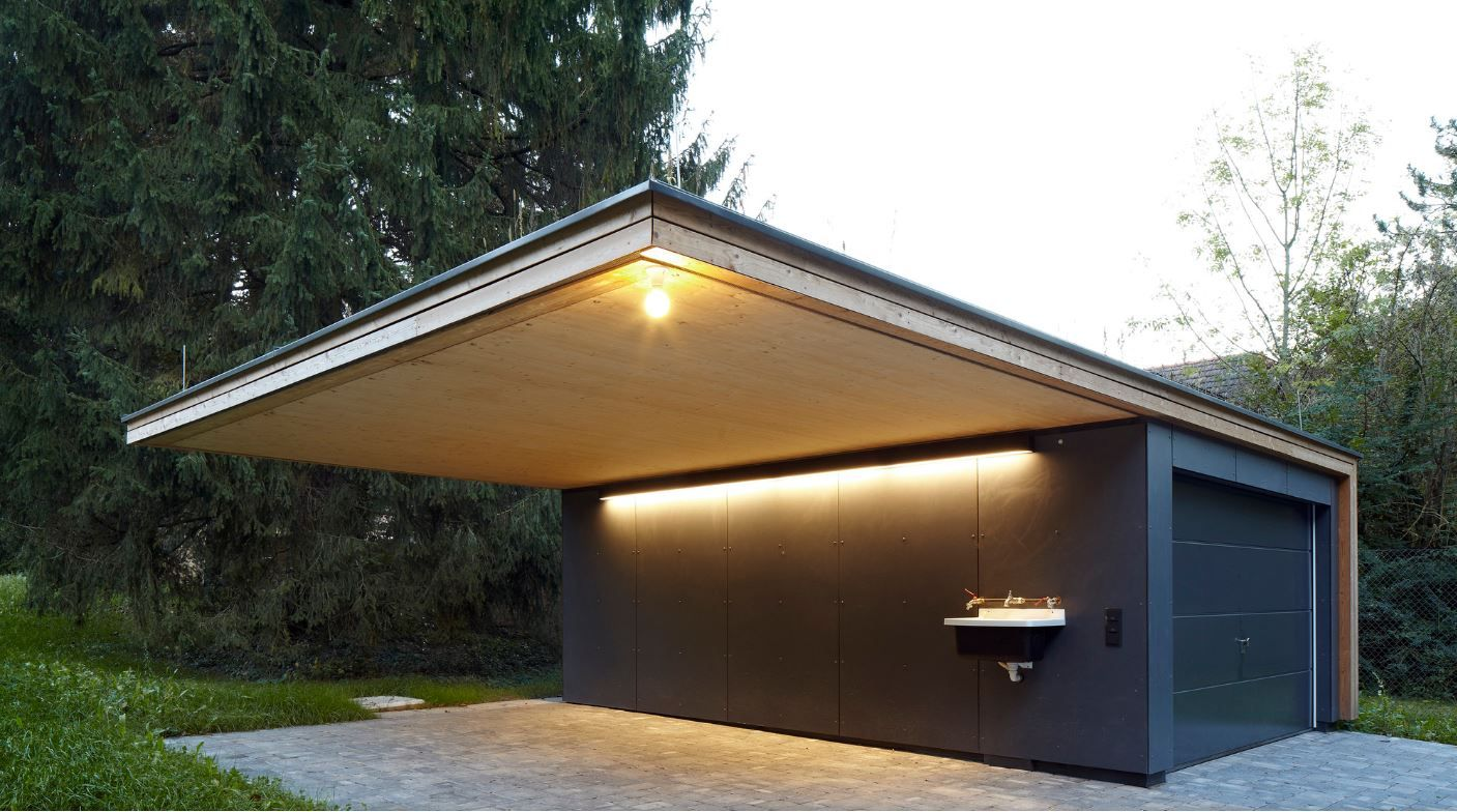 Garage Moderne Pin By Gary P On Pics For Ba House House Design Garage Modern
