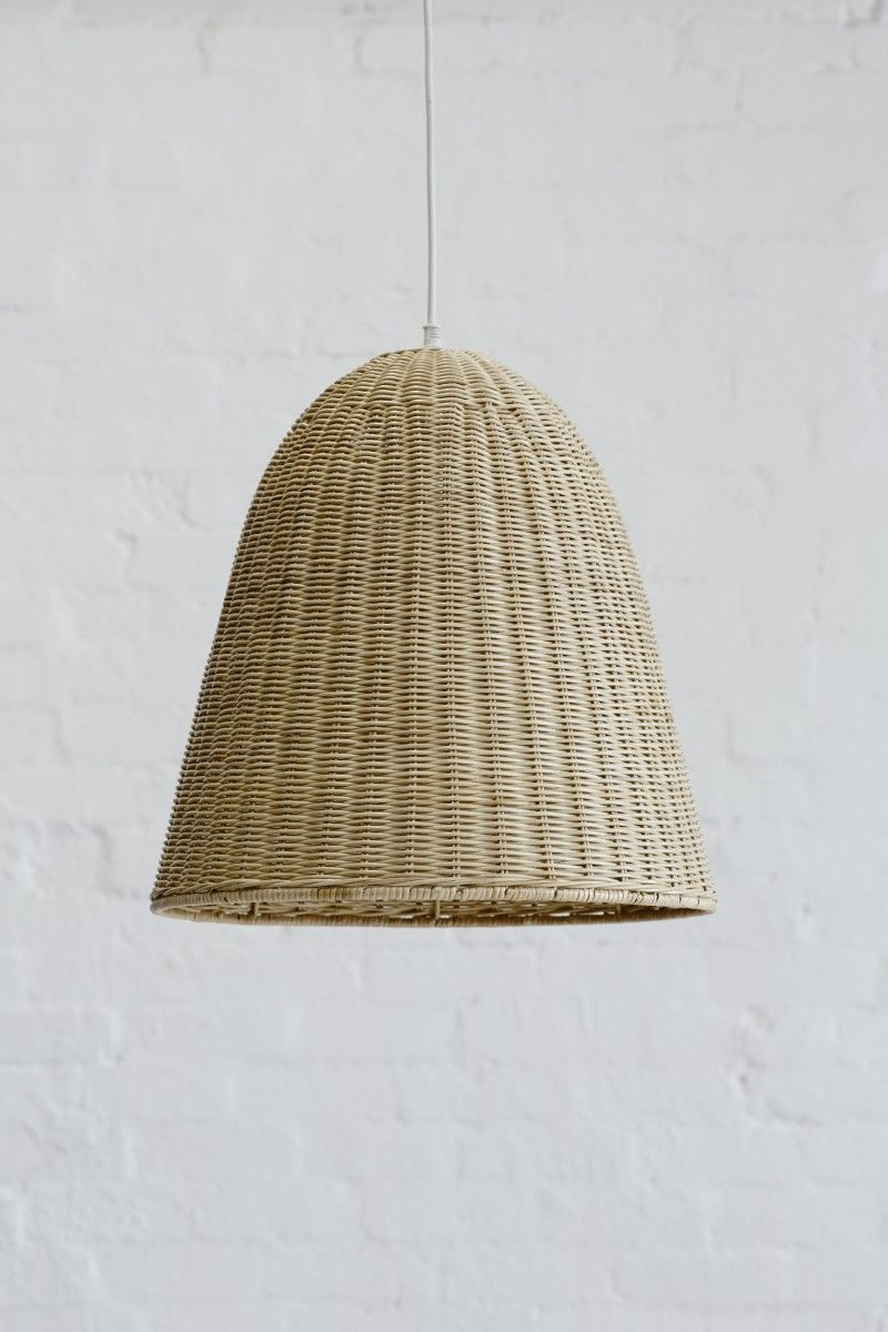 Medium Rattan Pendant Light Shade Natural & Medium Rattan Pendant Light Shade Natural | City Fringe Apartment ...