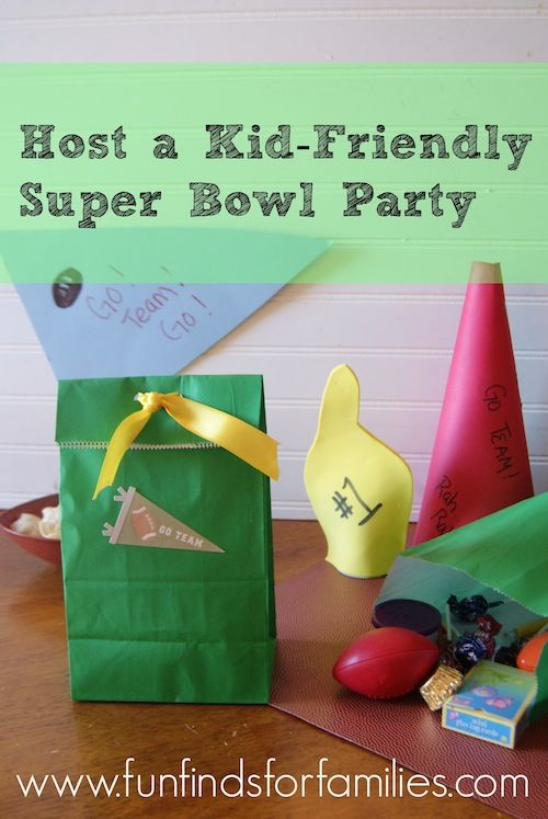 Kid Friendly Super Bowl Party Crafts And Recipes To Keep The Kids