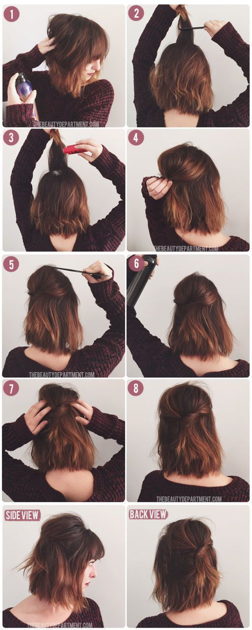 20 Easy Hairstyles For Women Who Ve Got No Time 7 Is A Game Changer Short Hair Styles Hair Styles Hair Lengths