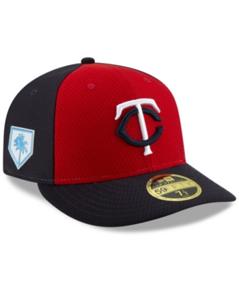 hot sale online 2821c 9f4d2 New Era Minnesota Twins Spring Training 59FIFTY-fitted Low Profile Cap -  Red Navy 7 1 2