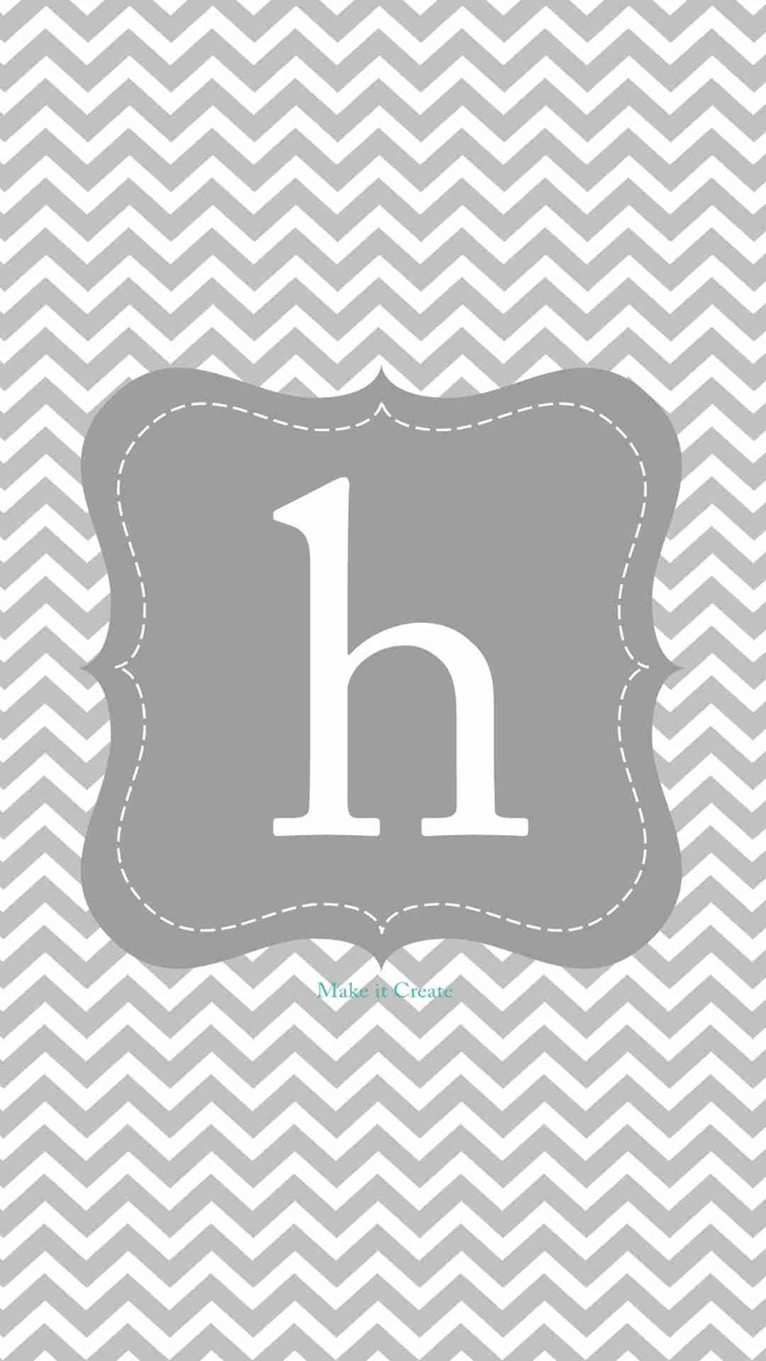 monogram h grey square chevron iphone 6 plus wallpaper
