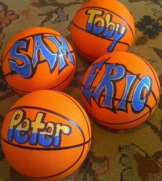 25 Best Ideas About Basketball Decorations On Pinterest: Personalized Full Size Basketball Personalized Hand