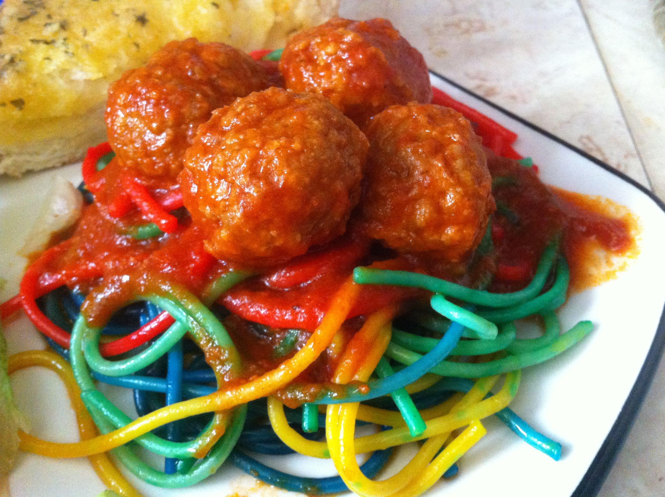 Rainbow Spaghetti Food Cooking Recipes