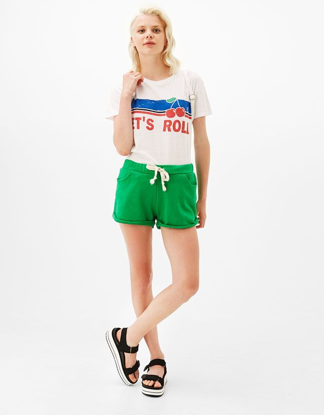 84e070e930a1c9 Shorts - CLOTHES - WOMAN - Bershka Serbia | Wishlist | Pinterest ...
