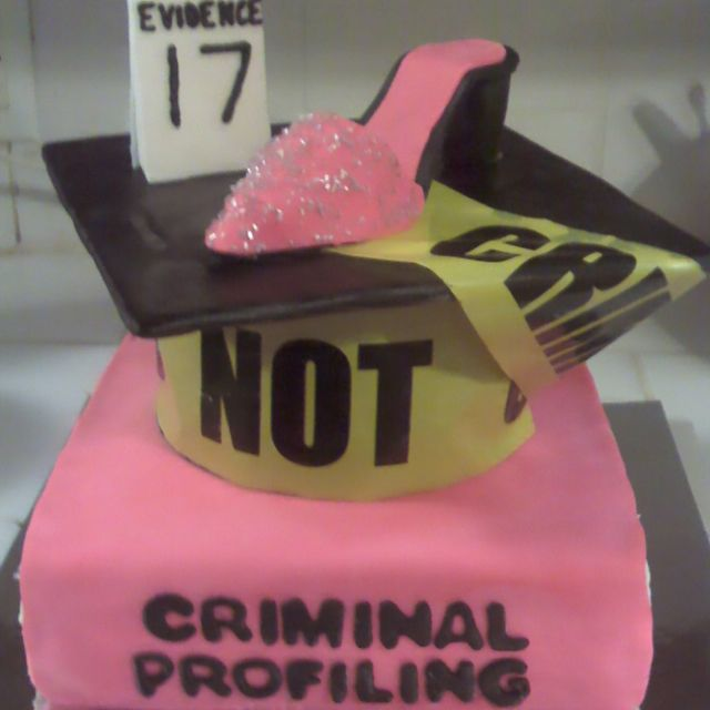 Criminal Justice Grad Cake...the cake I want when I graduate with my masters of justice administration degree.