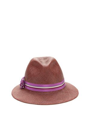 Don't forget to ward off damaging sun exposure this Summer, during your sun-drenched getaway! Of course, always wear your SPF, but I've found that adding a cute hat, like this fedora, is a fun way to play with looks, style & accessories, + remain shielded from those aging rays. This fedora has the cutest purple band, and a fresh color that veers away from all the light straw or bright/neon colors that permeate stores around this time.    Helen Kaminski Maisah Fedora
