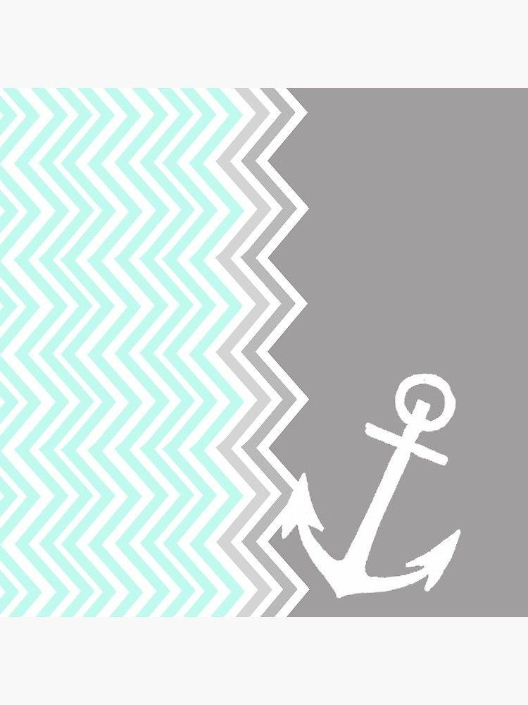 Nautical Chevron Photographic Print By Sunkisseddesign Anchor Wallpaper Chevron Wallpaper Chevron Art Print
