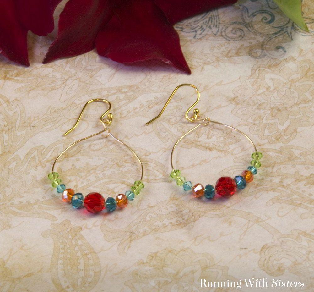 Dangling Crystal Hoop Earrings   Dangles, Crystals and Making memories