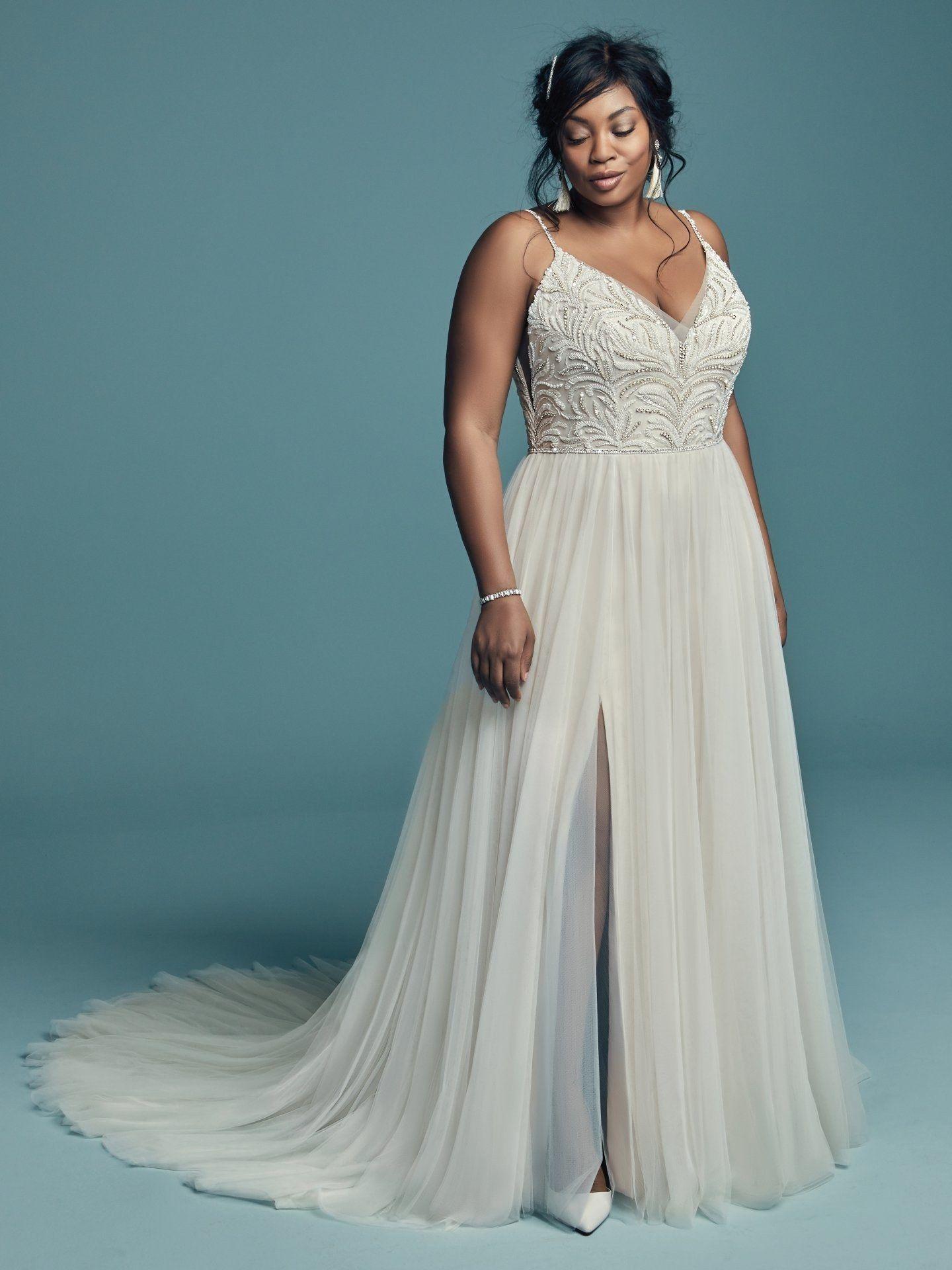 d0012c78374f 35 Designer Plus Size Wedding Dresses We Love | Brides | JG + RH in ...