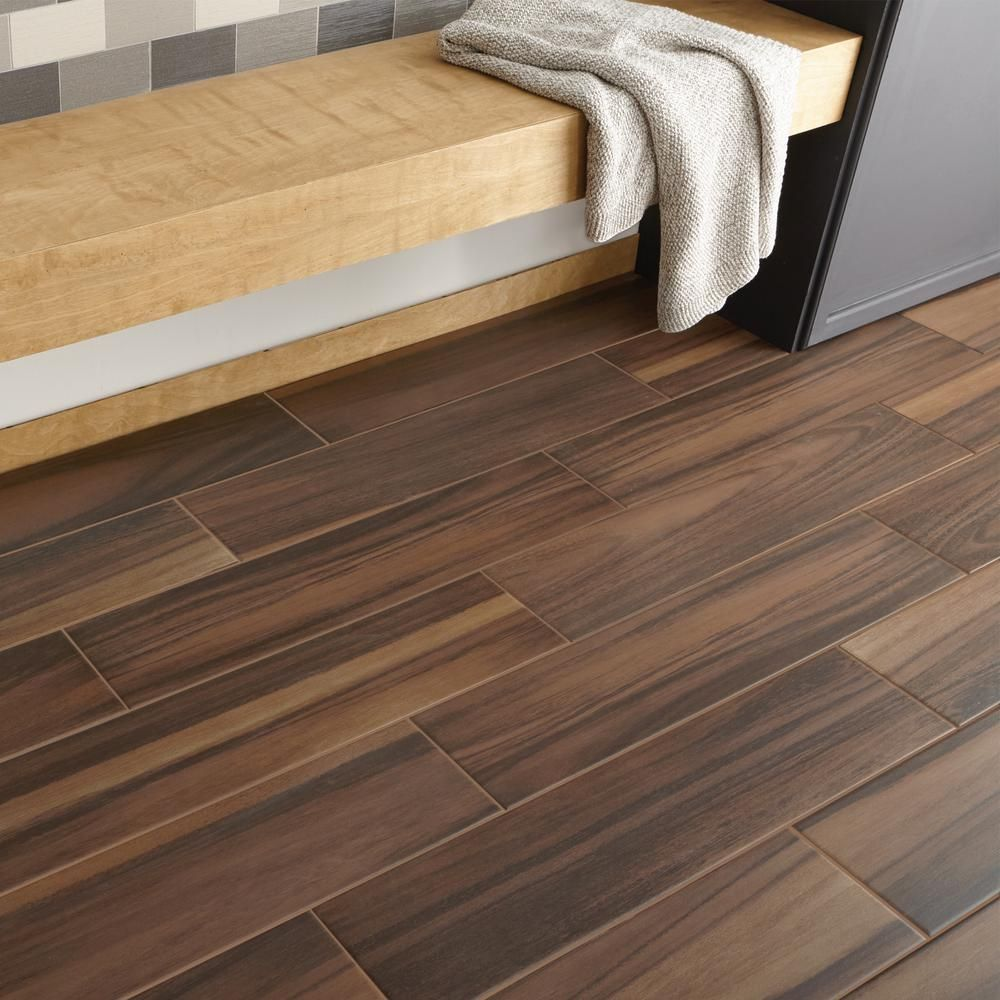 Daltile Forest Bay Sienna 8 in. x 36 in. Ceramic Floor and