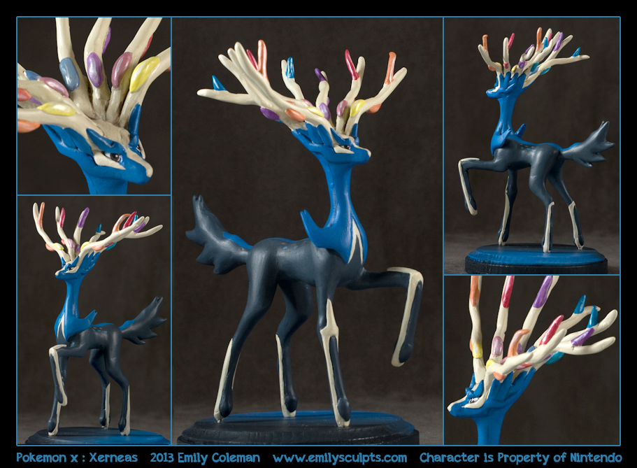 Pokemon X Legenda Xerneas by emilySculpts on DeviantArt  Polymer