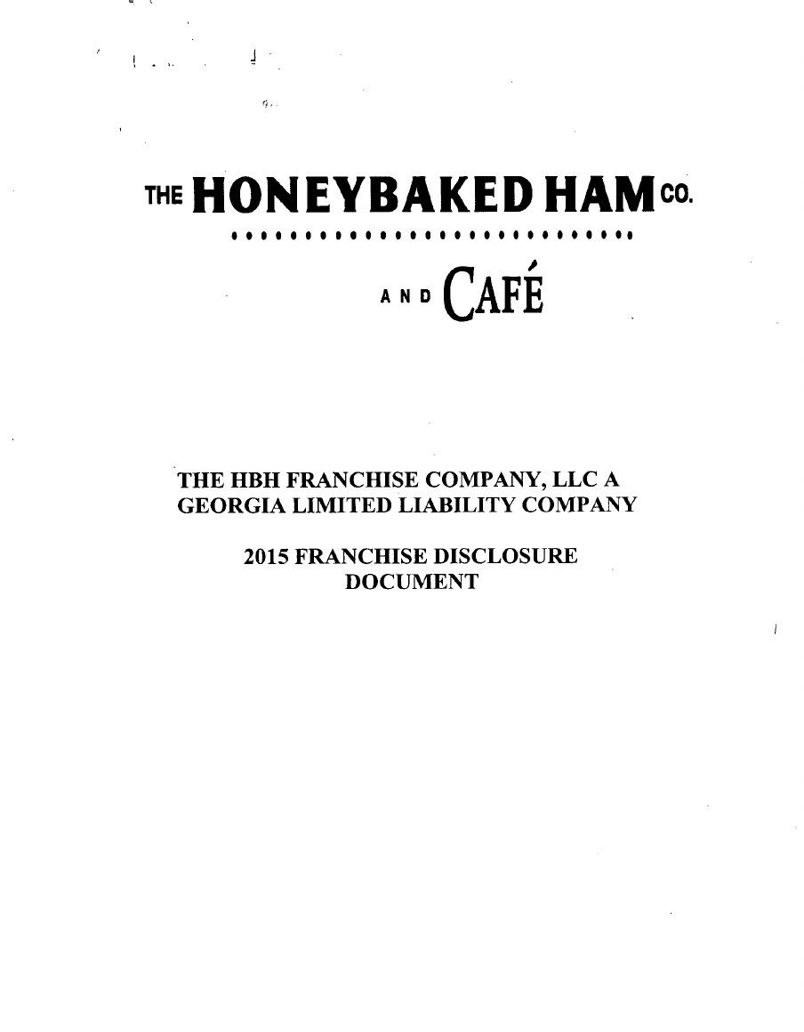 Honey Baked Ham Fdd  Franchise Agreement  Franchise Disclosure