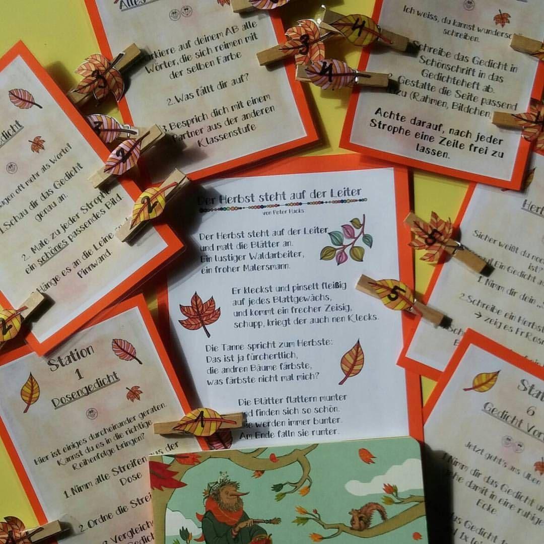 Gedicht des Monats 📄☺ Heute gings los mit Der Herbst