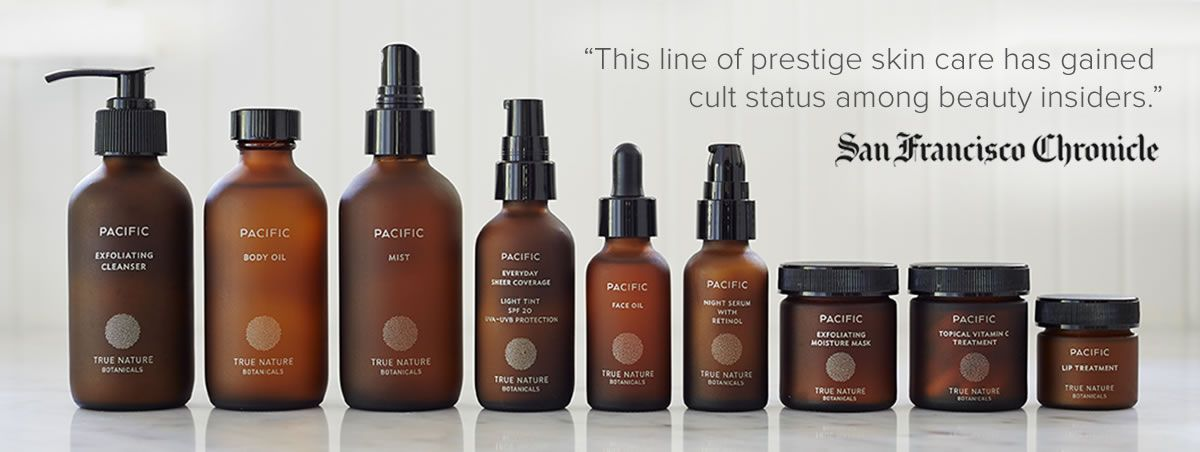 Pacific True Nature Botanicals Botanical Skincare Beauty Packaging Skin Care