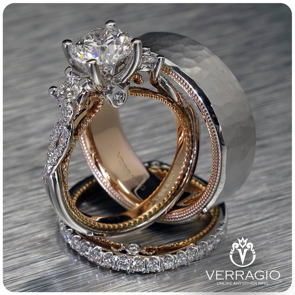 Verragio Engagement Rings And Wedding Bands Style Couture 0423p Tt Couture 0424 Vintage Engagement Rings Matching Wedding Rings Morganite Engagement Ring Set