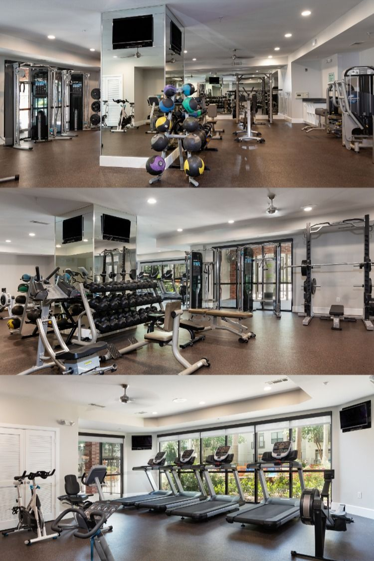 The Fitness Center At Amli City Vista In Houston Is Fully Equipped