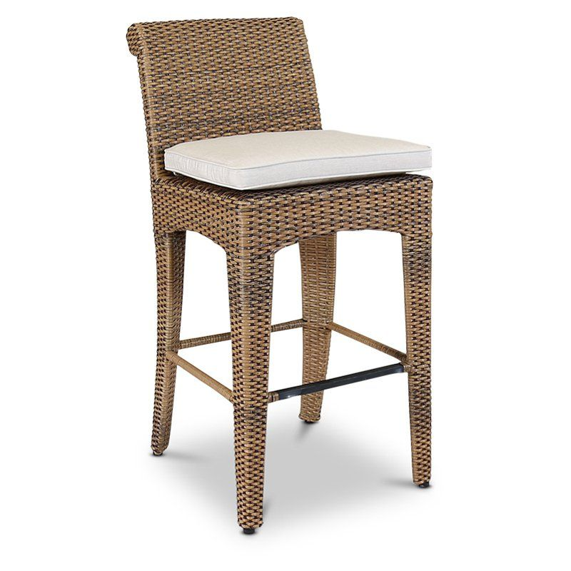 Sunset West Santa Cruz Wicker Patio Bar Stool 2201 7b 5492 Bar Stools Outdoor Furniture